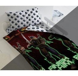 """КПБ """"Mortal Kombat"""" Neon рис. 16278-1/16275-1 Скорпион"""