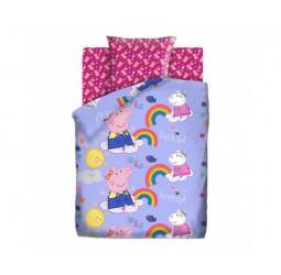 Постельное белье «Свинка Пеппа» Пеппа и радуга
